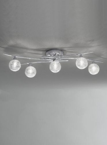 Franklite FL2297/5 Chrome Ceiling Light